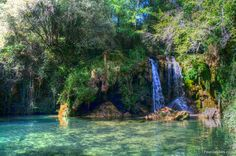 Costa Brava secret waterfall (Spain)