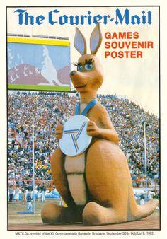Matilda the winking kangaroo. Brisbane Commonwealth Games 1982.