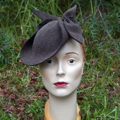 """Michelle"" 1940s-style Felt Hat, by Tanith Rowan Designs."