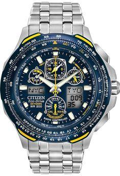 Citizen Citizen Eco-Drive Blue Angels Skyhawk A-T Atomic Timekeeping Sport Watches, Cool Watches, Rolex Watches, Citizen Watches, Citizen Eco, Blue Angels, Luxury Watches For Men, Audemars Piguet, Casio Watch