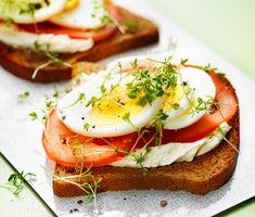 Ägg och tomatmacka (Egg and tomato sandwicht)