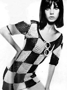 #blackandwhite #mod #retro #60s #twiggy #checkered #checkers #model #editorial #fashion