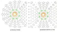Adorei  essa flor pavão do Marcelo Nunes.     Queria fazer um tapete com ela mas a  base é redonda. Lembrei de um tapete oval que fiz com ...