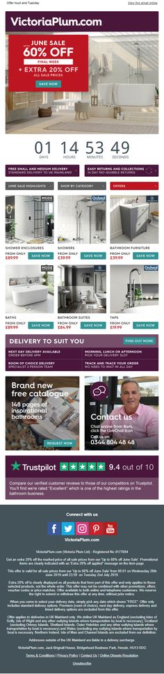 Sale email from VictoriaPlum.com including countdown timer #EmailMarketing #Email #Marketing #Sale #Home