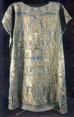 Kremlin Armoury. Byzantium (?), early XVth century Atlas, gold thread, pearls; weaving, embroidery Length 135 cm Belonged to Metropolitan Photius. Inv. ТК-4