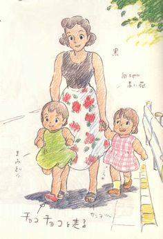 Character Concept, Character Art, Concept Art, Yoshifumi Kondo, Personajes Studio Ghibli, Studio Ghibli Art, Ghibli Movies, Character Design Animation, Cute Art