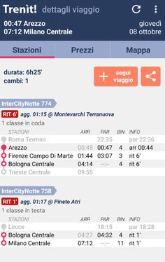 One travel app for train timetable
