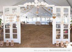 ideas para decorar un salón de bodas en un granero o granja