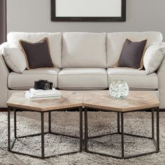 Riverside Furniture Thornhill Hexagon Coffee Table