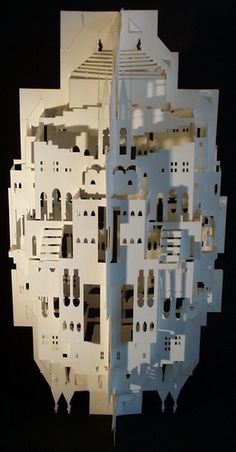 This post lists 30 stunning paper art examples that you can use to inspire and enlighten you on the many objects that can be made from an ordinary paper 3d Paper, Paper Crafts, Crushed Paper, Reflection Paper, Paper Architecture, Paper Houses, Kirigami, Source Of Inspiration, Abstract Sculpture