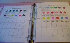 Must Do This!!! - Craft Inventory Binder - Ink colors, Punches, Embossing folders, etc