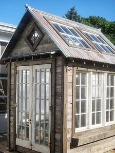 sheds using reclaimed and recycled materials