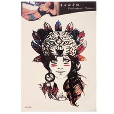 Waterproof Temporary Tattoo Sticker Tribal Girl Body Arm Leg Art  Removable - Gchoic.com