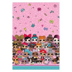 """L.O.L. Surprise! 54""""x84"""" Tablecloth - Unique Industries, Multi-Colored 8th Birthday, Birthday Parties, Hotel Party, Paper Dolls Printable, Iphone 6 Wallpaper, Use Of Plastic, Lol Dolls, Surprise Gifts, Jouer"""