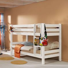Bunk Bed in Solid Pine Knuth White Pine Bunk Beds, Shared Boys Rooms, Single Bunk Bed, Solid Pine, Bed Frame, Furniture, Home Decor, Christmas 2014, Ranch