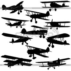 silhouette schnelles flugzeug - Google-Suche