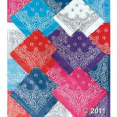 Bandanas from Oriental Trading. Use for napkins at parties/get togethers.