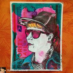 Super talented  @number1answer just went and drew me! I'm super flattered as I love her work -  Happy New Year everyone! I wanted to share one of my inspirations with you. Meet @hellothemushroom Sara is a strong awesome woman plus a cool artist. Love you.  #sticker #stickerporn #228s #slaps #vintagestyle #portrait #strongwomen #colorful #goodhair #number1answer #drawingaday #retro #illustration #art #chinalife #draw #drawingaday #sketch #sketchaday #Beijing #nevergiveup #chinadoll #china…