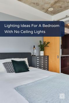 Don't have ceiling lights in your bedroom? No worries, light up your bedroom decor with these lighting design ideas. Large Floor Lamp, Arc Floor Lamps, Next Bedroom, Small Room Bedroom, Dining Room Lighting, Bedroom Lighting, Bedroom Ceiling, Bedroom Decor, Bedroom Ideas