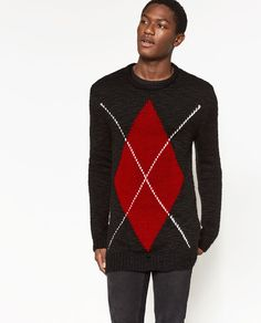 5b85df5bef4 Image 2 of ARGYLE SWEATER from Zara Zara Man