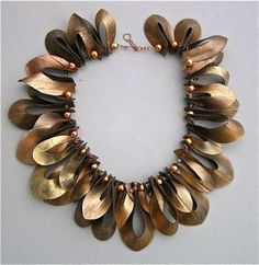 Necklace. Made of inner tube