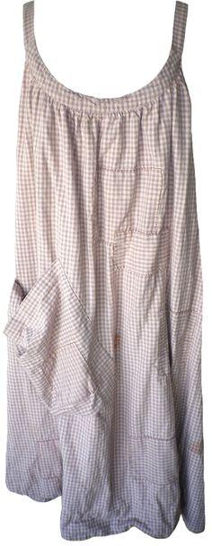 Magnolia Pearl: Dahlia checked cotton Bellabird Work Smock Dress