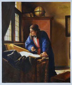 Vermeer, De geograaf. 1664, 52*45 cm.