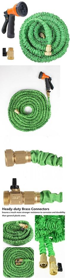 Connectors Clamps and Fittings 181013: Ohuhu 75 Feet Expandable Garden Hose With Brass Connector And Spray Nozzle -> BUY IT NOW ONLY: $44.76 on eBay!