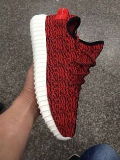2015 New Men's Shoes Kanye West Red Yeezy 350 Boost Athletic Boots (HOT!) #Adidas #FashionSneakers #new pictures added