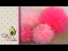 How to Make Tulle Pom Poms! Perfect for a girl's birthday party, baby shower, bridal shower and a great pink party idea. Last Longer Than Tissue Paper Pom Poms. Easy & Fast DIY Puff Balls.