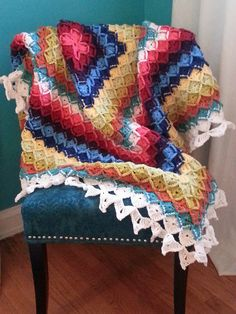 Ravelry: Project Gallery for The Wool Eater Blanket pattern by Sarah London