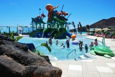 Aqualava Waterpark. Lanzarote
