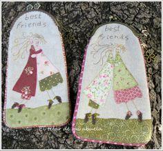 El telar de mi abuela ♥: BOLSO Y MONEDEROS con diseño de Anni Downs.