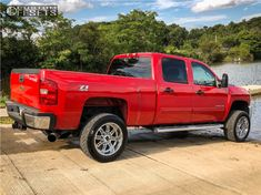 This 2011 Chevrolet Silverado 2500 HD is running XD Riot wheels Nitto tires with Stock Stock suspension. Lifted Chevy Trucks, Gm Trucks, 2011 Chevy Silverado, Tyre Fitting, Trucks And Girls, Wheels And Tires, Dream Cars, Monster Trucks, Ford