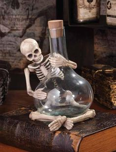 Potion Skelly Bottle Bethany Lowe Apothecary Halloween - TheHolidayBarn.com