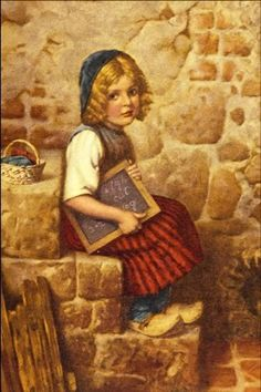 """Gretel"" ~ by Hermann Kaulbach (1846 – 1909,German)"