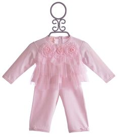 Coming home outfit  Biscotti Tulle Infant Top with Pants Three Wishes $39.00