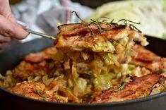 filet z kurczaka pieczony z młodą kapustą Good Food, Yummy Food, Tasty, Polish Recipes, Polish Food, Poultry, Chicken Recipes, Cabbage, Pork