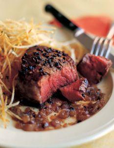 Barefoot Contessa - Recipes - Filet of Beef au Poivre