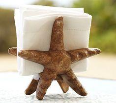 Starfish Napkin Holder #potterybarn