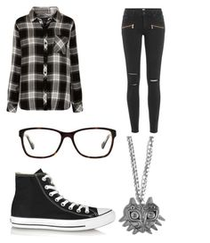 """""""#97"""" by davinaespinosa ❤ liked on Polyvore featuring Rails, Converse, Paige Denim and Coach"""
