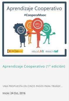 """Inscripción abierta para el #MOOC_INTEF """"Aprendizaje Cooperativo"""" (1ª edición)"""
