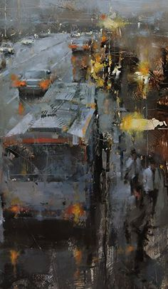 Tibor Nagy Contemporary Landscape Paintings by Famous Artist Tibor Nagy Fine Art Urban Painting, City Painting, Painting & Drawing, Urban Landscape, Landscape Art, Landscape Paintings, Contemporary Landscape, Landscapes, Fine Art