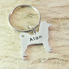 Akita  Dog Keychain Pet  Memorial Gift Pet Lovers Gift dog key chain dog charm dog pendant pet keychain 925 sterling silver