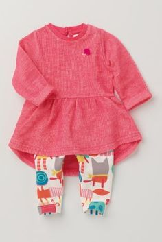 Buy Pink Tunic And Print Leggings Set (0-18mths) from the Next UK online shop