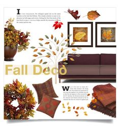"""Fall Deco"" by maryjane95 ❤ liked on Polyvore featuring interior, interiors, interior design, home, home decor, interior decorating, Crate and Barrel, Nearly Natural, PTM Images and Nolita"