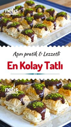 Dünya'nın En Kolay Tatlı Tarifi – Nefis Yemek Tarifleri Video narration How to make the World's Easiest Dessert Recipe? Video narration of this recipe in the book of people and photos of those who have tried here. East Dessert Recipes, Cake Recipes, Vegan Desserts, Easy Desserts, Wie Macht Man, Recipe 30, Food Platters, Turkish Recipes, Chocolates