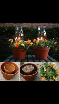 Great way for extra lighting at night!  Use citronella candles to help with mosquitoes!