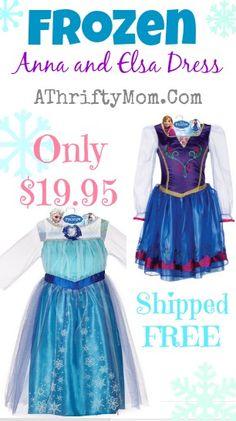 Frozen Disney Dress, Dress Up as Elsa from the hit Disney Film FROZEN, Elsa Costume #Elsa, #Frozen, #Dress