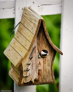 Chickadee Birdhouse 1 by xstartxtodayx, via Flickr